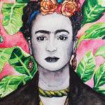 Frida Khalo Portrait, Frida Khalo Painting, Frida Khalo inspired, Famous women artists, Frida Khalo