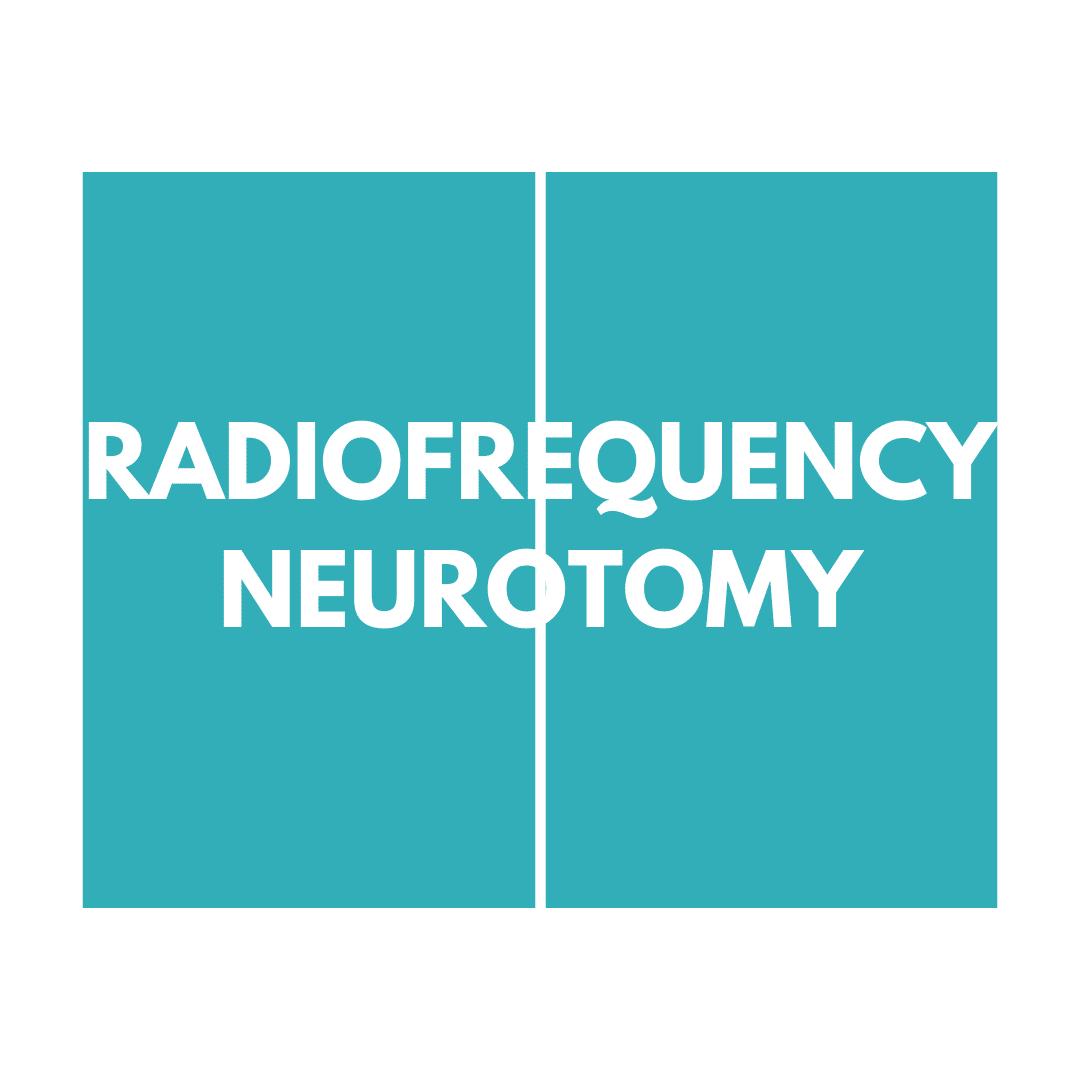 Radiofrequency neurotomy