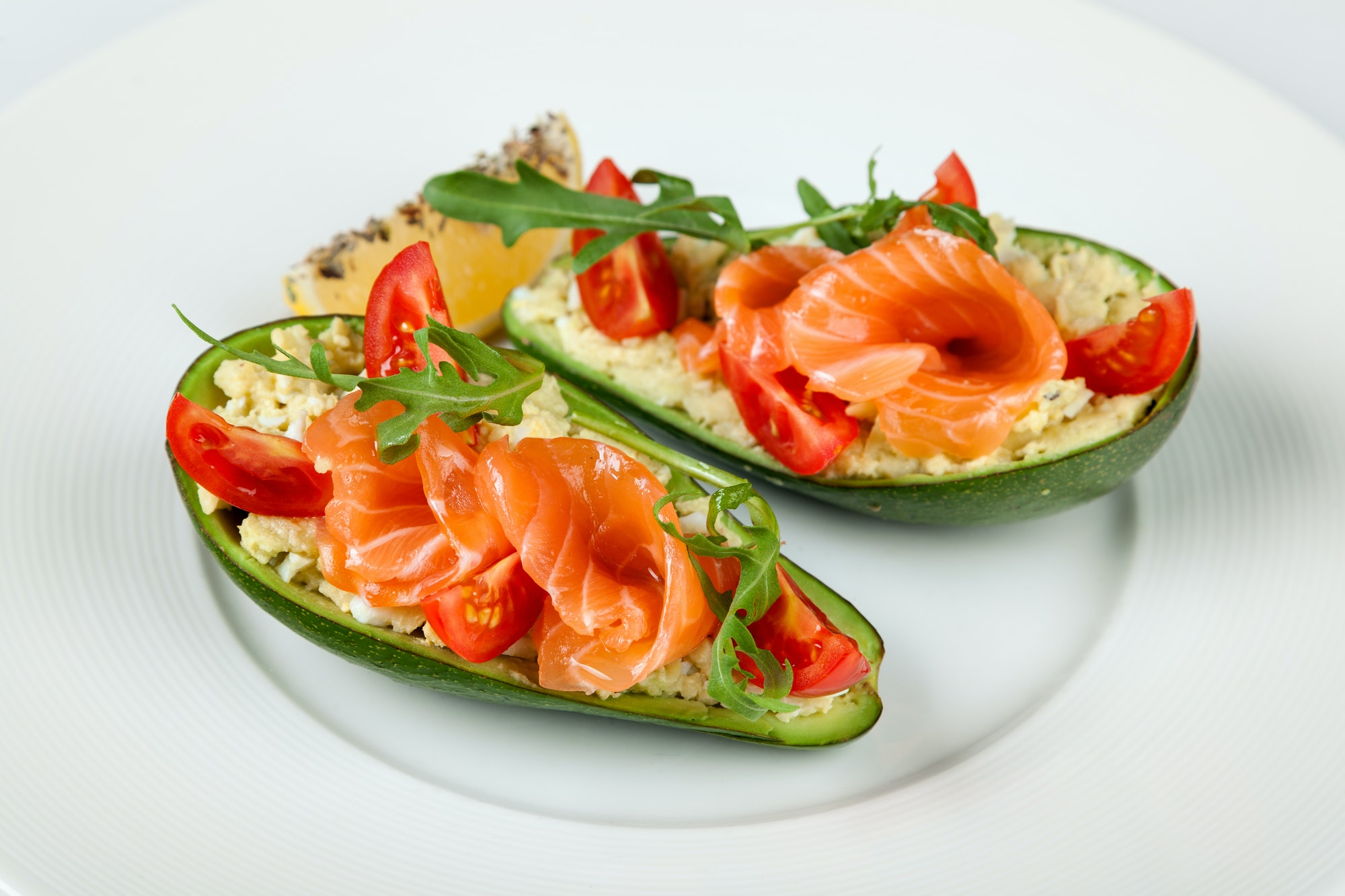 Salmon and avocado salad