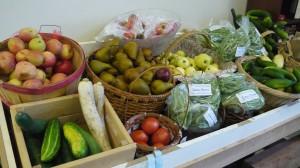 Fresh veggies and fruit