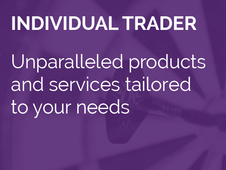 Individual Trader - Unparalleled products and services tailored to your needs
