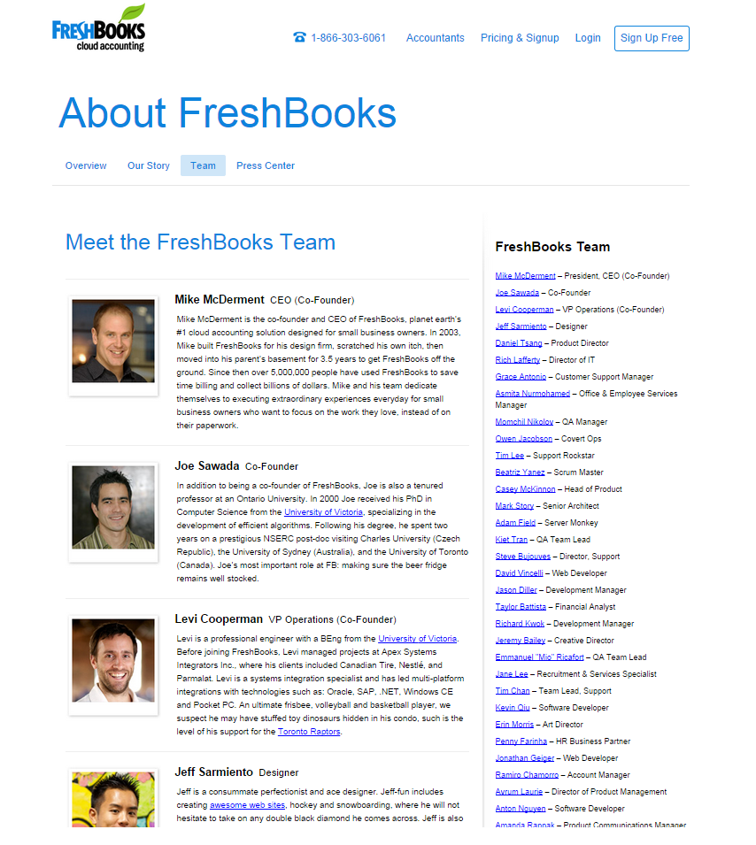 FreshBooks - Meet Our Employees
