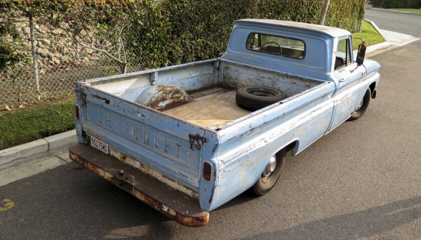1965 C10 longbed rear view and bed