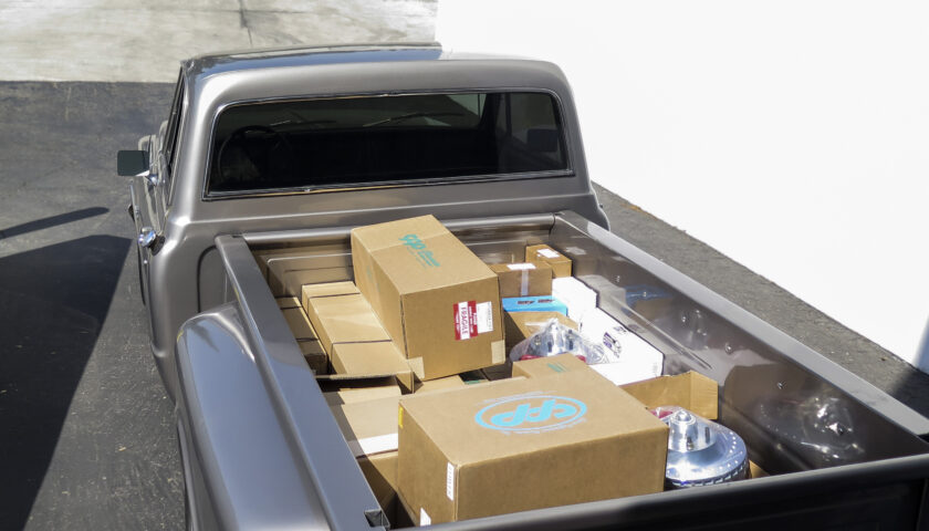 Chevy C10 Stepside loaded with CPP parts