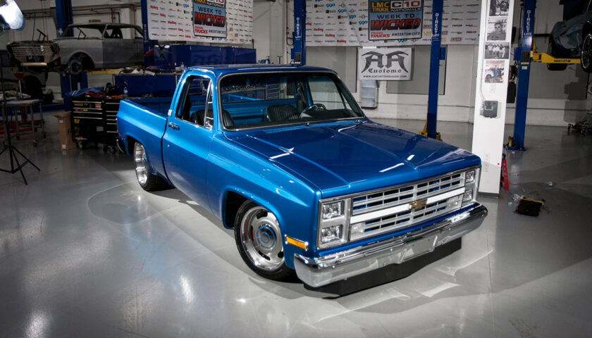The '85 Square Body Chevy C10 at the end of day 5