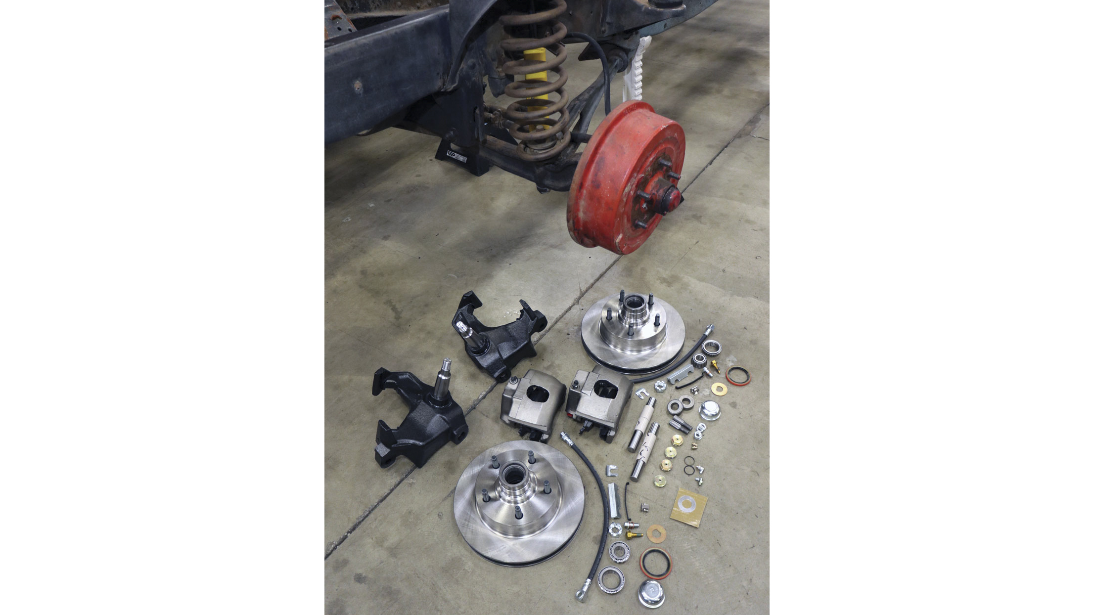 CPP's F100 Disc Brake Spindle kit is an key brake upgrade for 1965 to 1972 Ford Trucks