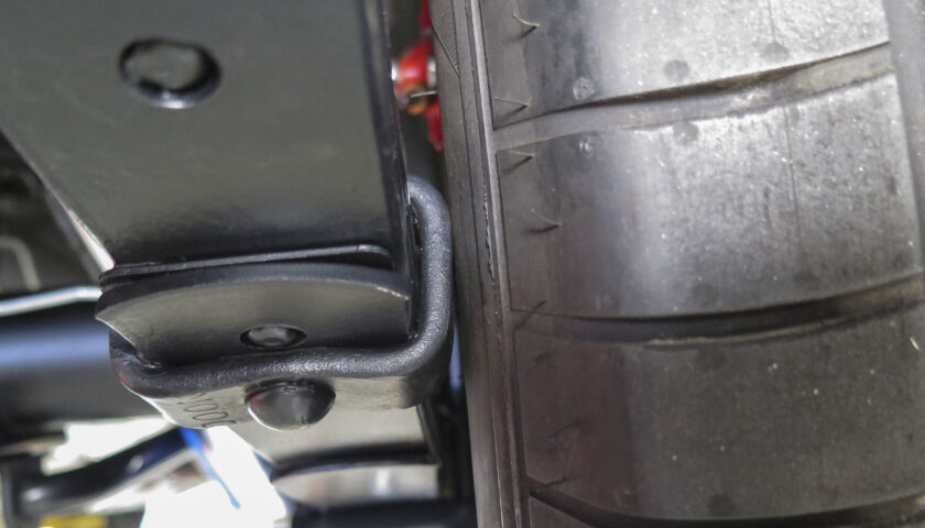 Tire rubbing on leaf spring clamp