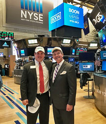Bobby Norman and Greg Powell at New York Stock Exchange