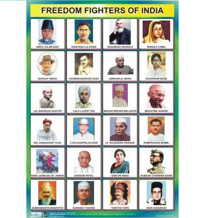 freedom fighters chart with names