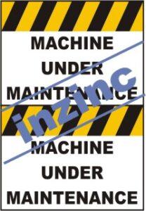 Maintenance Signage