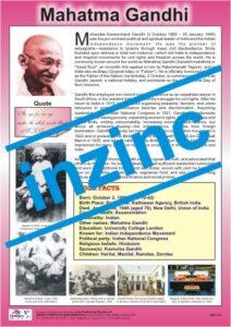 Mahatma Gandhi Chart