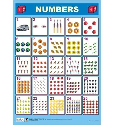 Numbers Chart for kids in India