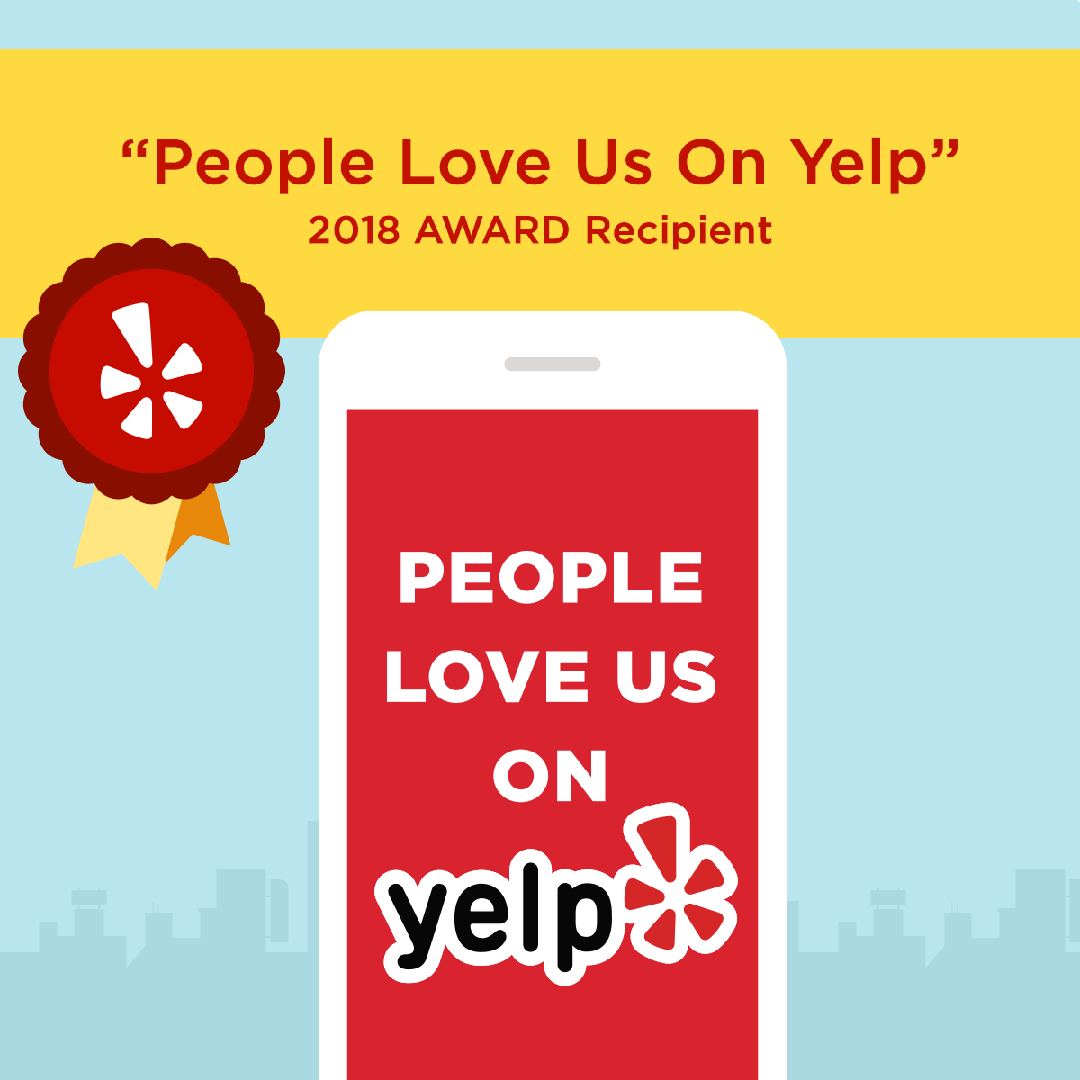 It's official – people love us on Yelp!
