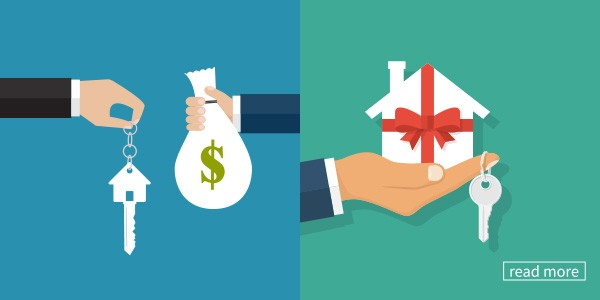 graphic of someone handing keys in exchange for money