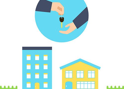 graphic of person handing keys to another person