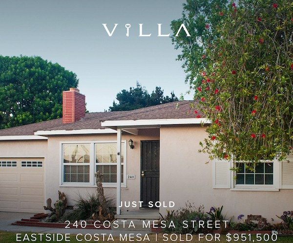SOLD  | 240 Costa Mesa St., Eastside Costa Mesa