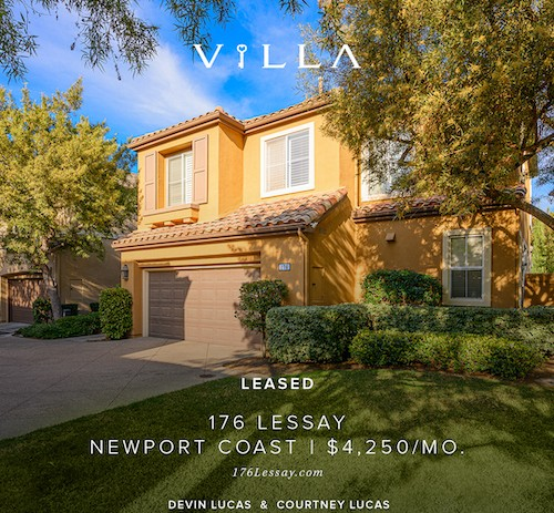 LEASED IN DAYS AT FULL PRICE | 176 Lessay | Newport Coast