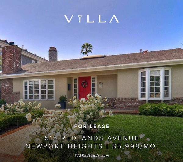 For Lease | 515 Redlands Newport Heights | $5,998/mo.