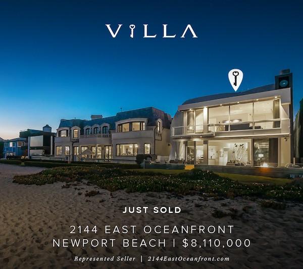 sold | 2144 East Oceanfront | NEWPORT BEACH Balboa Peninsula Point | $8.11mm