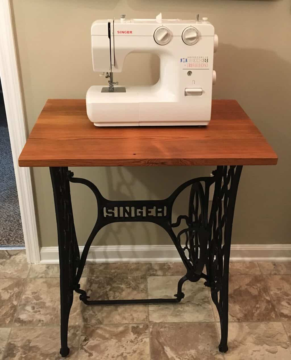 Making a Sewing Machine Table
