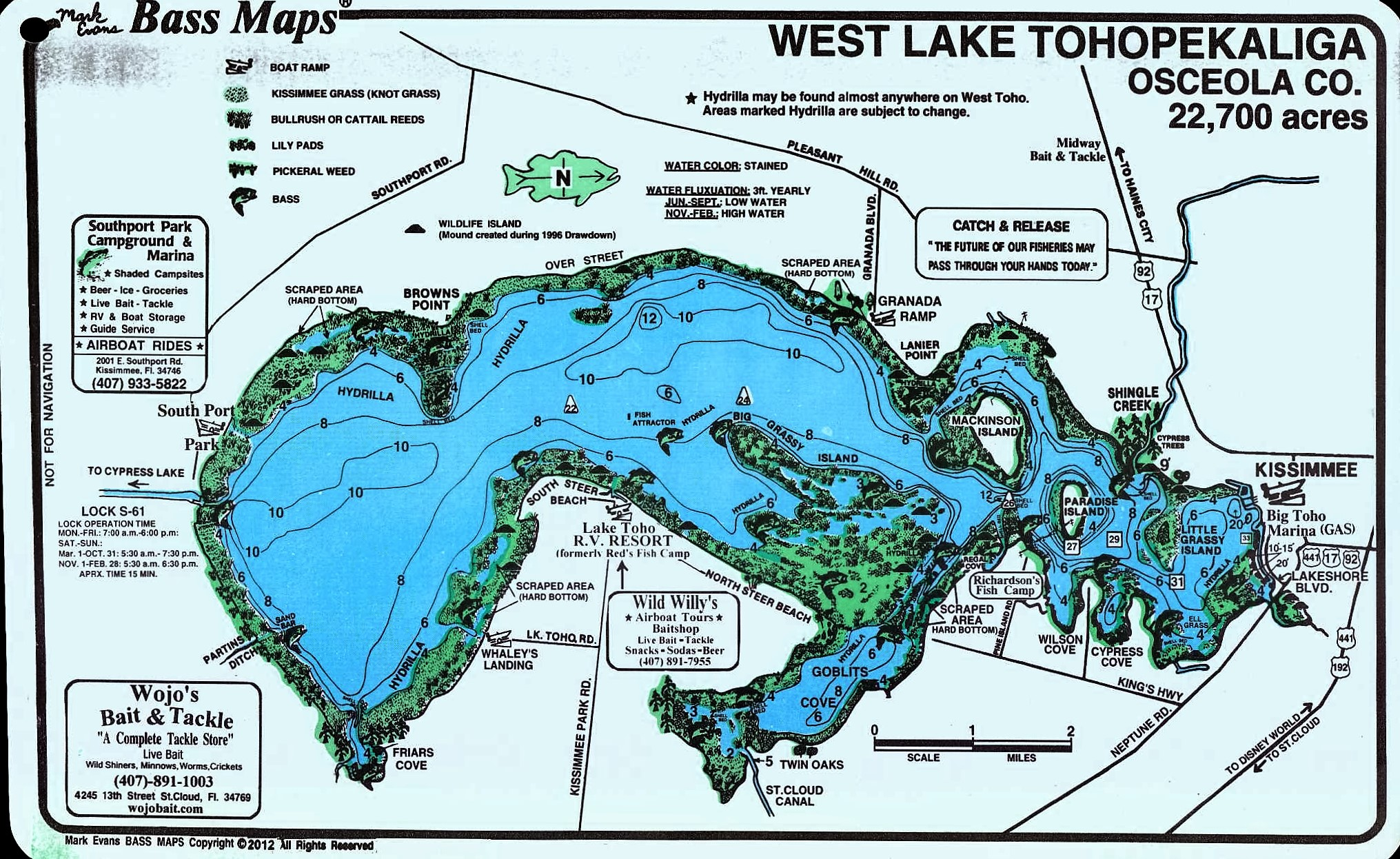 map of lake kissimmee About Lake Tohopekaliga Lake Toho Florida Fishing map of lake kissimmee