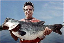 Captain Ed Chancey with his 16lb 10oz Lake Toho record bass