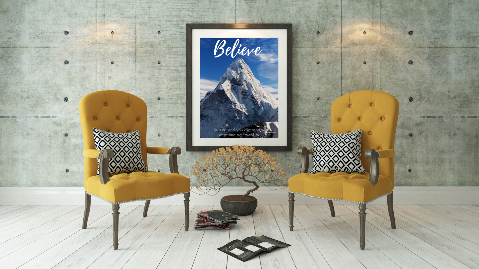 Believe to Achieve Poster Sample