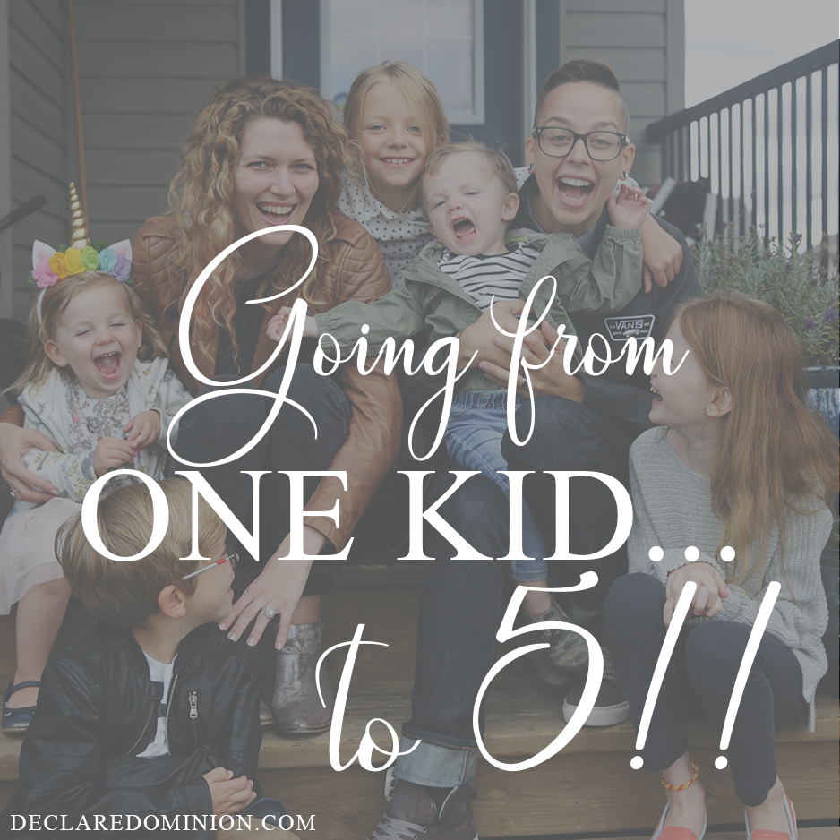 What I learned going from one kid to five! Blending families is challenging but also wonderful.