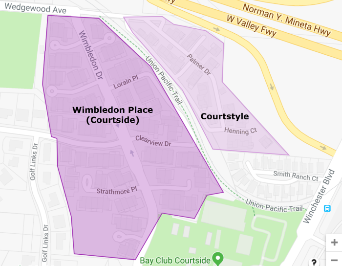 Courtstyle and Wimbledon Place map