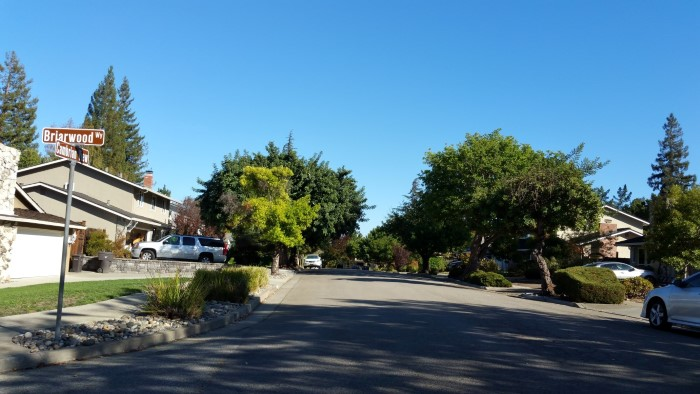 Strathmore subdivision view from Briarwood and Cambrian View Way