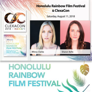 Winny Clarke and Sharon Belle SWERVE at HRFF29 with ClexaCon