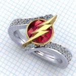 ladies flash super hero ring