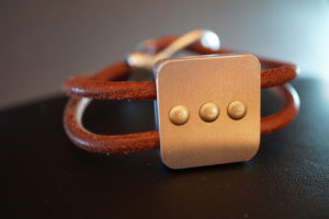bracelet from reclaimed aircraft metal