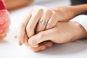 platinum estate diamond engagement ring