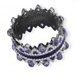 purple stone and diamond ring