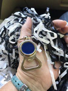 Tesla Bottle Opener Key Ring