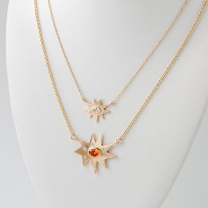 Stella and Stellina Necklaces layer really well!
