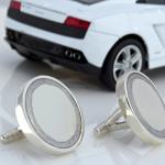 White Ferrari Cufflinks