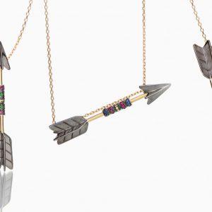 3-way arrow necklace