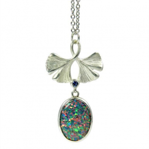Sterling Silver Gingko Necklace