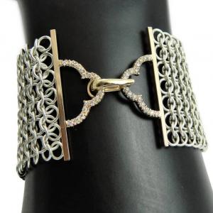 Chainmail Bracelet With Diamond Clasp