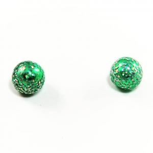Glitter Glam Ball Post Earrings