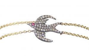 Diamond Bird Bracelet