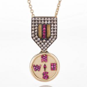 Comapass Medal Necklace