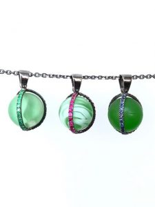 Antique Marble Necklaces