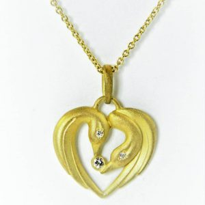 Alison Nagasue Swan Necklace for Mother