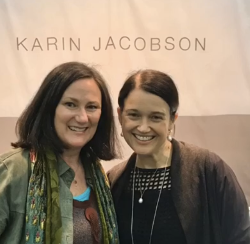 Brenna Pakes with Karin Jacobson at American Craft Council show