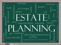 Chalkboard with Estate Planning written on it