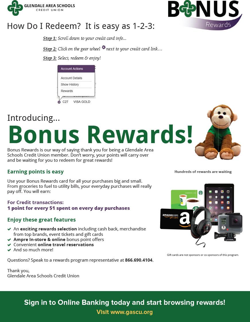 Rewards information