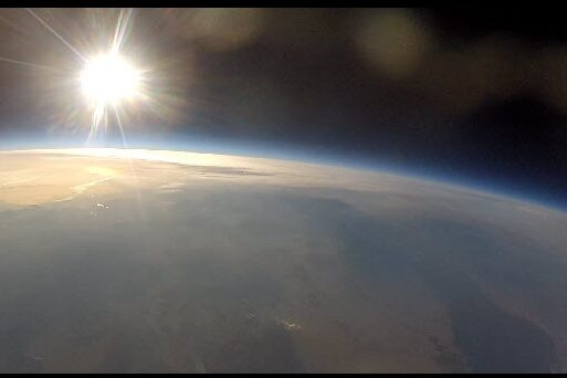 Sunrise at 80,000 ft
